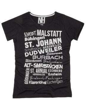 Saarbrücken T-Shirt Schwarz