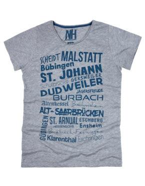 Saarbrücken T-Shirt Grau